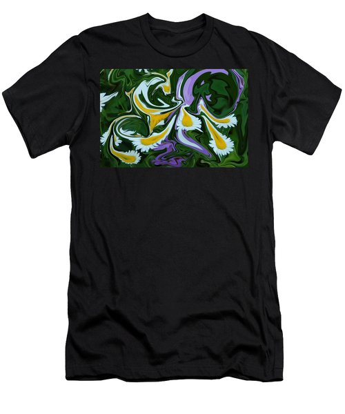Men's T-Shirt (Slim Fit) featuring the photograph Melting Daisies by Aimee L Maher Photography and Art Visit ALMGallerydotcom