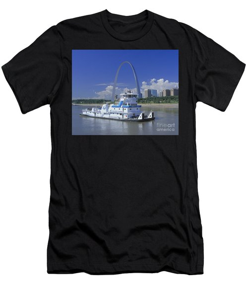 Memco Towboat In St Louis Men's T-Shirt (Athletic Fit)