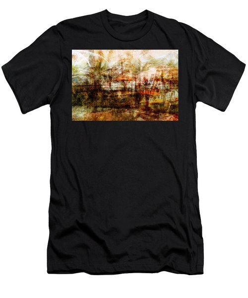 Men's T-Shirt (Slim Fit) featuring the mixed media Memories #1 by Sandy MacGowan