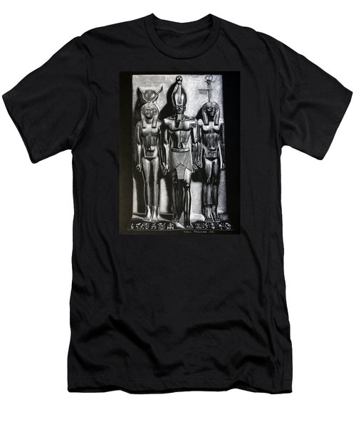 Men's T-Shirt (Slim Fit) featuring the painting Menkaure Triad by Leena Pekkalainen