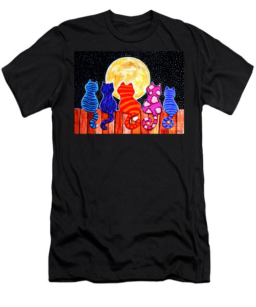 Meowing At Midnight Men's T-Shirt (Athletic Fit)