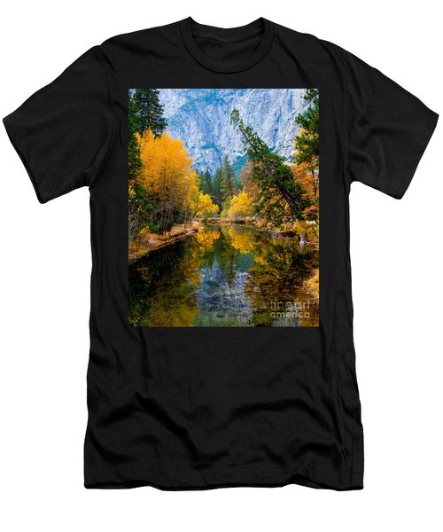 Merced River And Leaning Pine Men's T-Shirt (Athletic Fit)