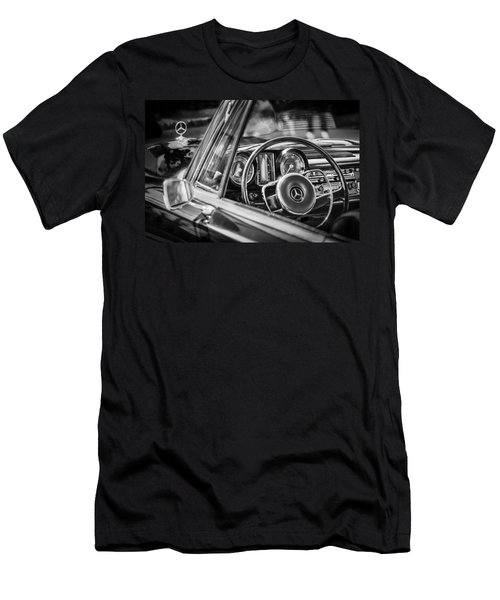Mercedes-benz 250 Se Steering Wheel Emblem Men's T-Shirt (Slim Fit) by Jill Reger