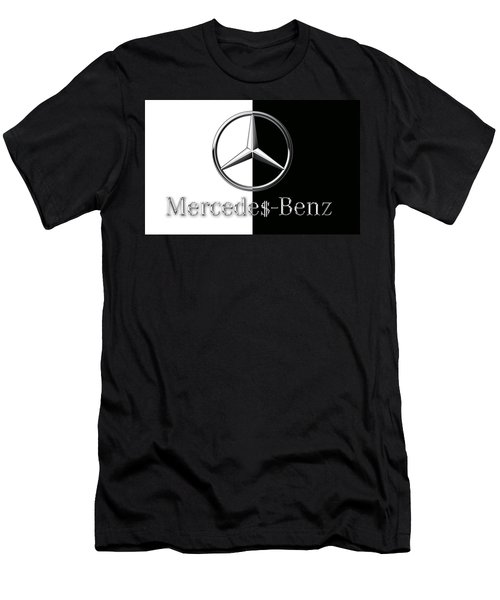Mercedes-benz Logo Men's T-Shirt (Athletic Fit)