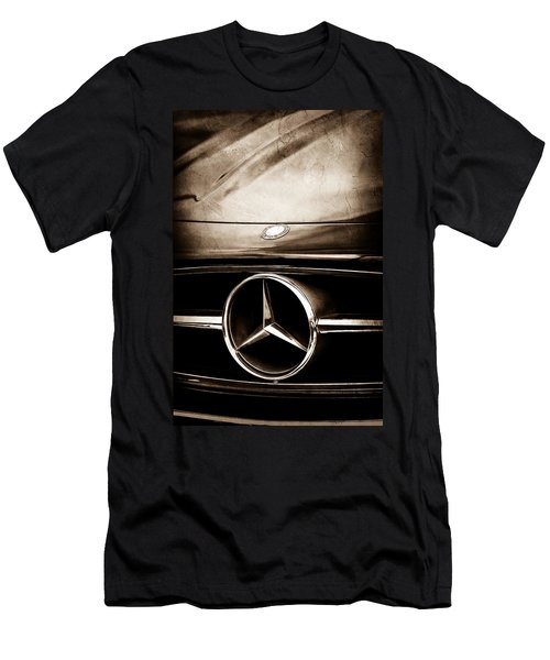 Mercedes-benz Grille Emblem Men's T-Shirt (Slim Fit) by Jill Reger