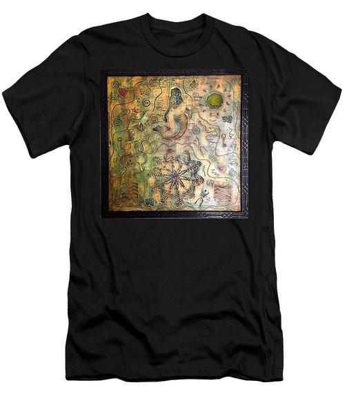 Mermaid Goddess By Alfredo Garcia Men's T-Shirt (Athletic Fit)