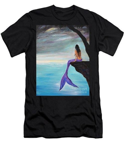 Mermaid Oasis Men's T-Shirt (Slim Fit) by Leslie Allen