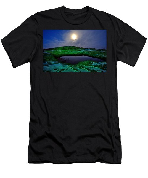 Men's T-Shirt (Slim Fit) featuring the photograph Mesa Arch In Green by David Andersen