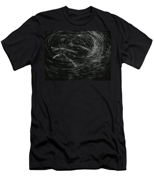Men's T-Shirt (Slim Fit) featuring the drawing Mesmerized by Sandra LaFaut
