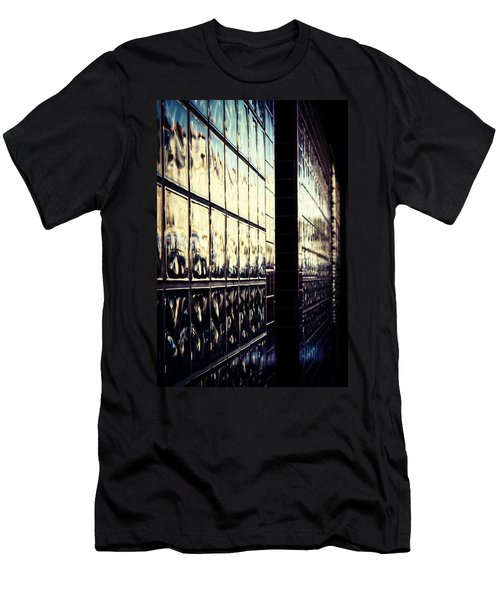Men's T-Shirt (Slim Fit) featuring the photograph Metallic Reflections by Melanie Lankford Photography