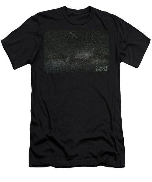 Meteor With The Milky Way Men's T-Shirt (Athletic Fit)