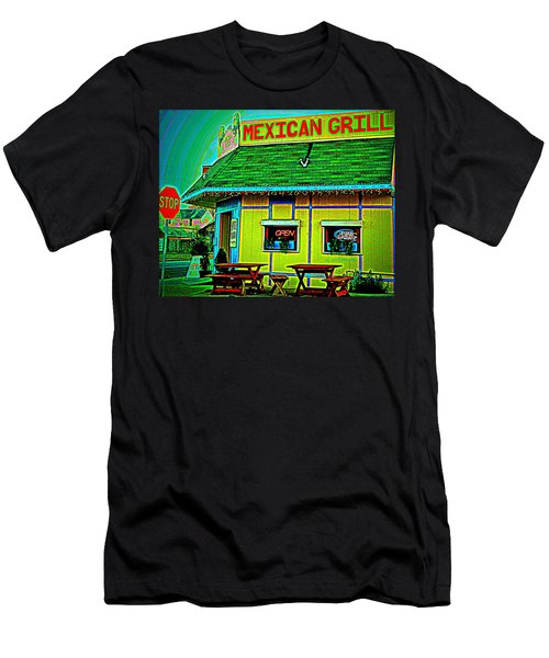 Mexican Grill Men's T-Shirt (Slim Fit)