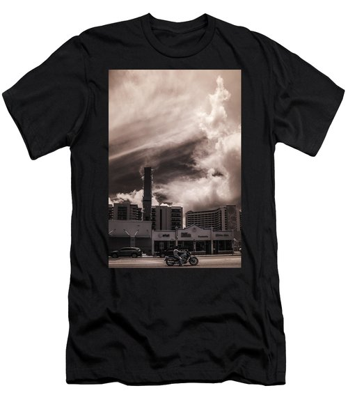 Miami Beach Sky Men's T-Shirt (Athletic Fit)