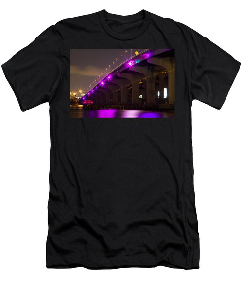 Miami Macarthur Causeway Bridge Men's T-Shirt (Athletic Fit)