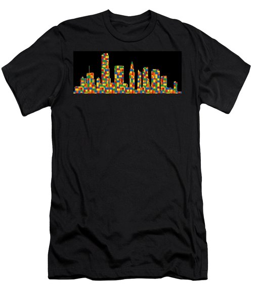 Miami Skyline 2 Men's T-Shirt (Athletic Fit)