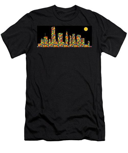 Miami Skyline 3 Men's T-Shirt (Athletic Fit)