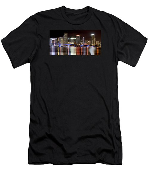 Miami Skyline Men's T-Shirt (Slim Fit) by Brendan Reals