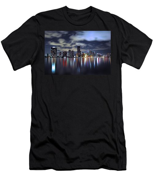 Miami Skyline Men's T-Shirt (Athletic Fit)