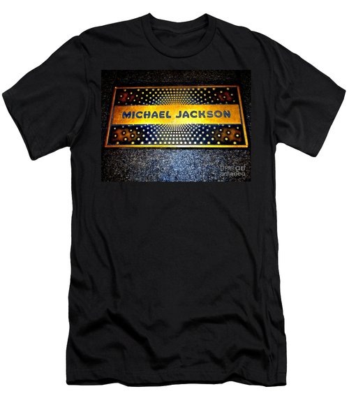 Michael Jackson Apollo Walk Of Fame Men's T-Shirt (Slim Fit) by Ed Weidman