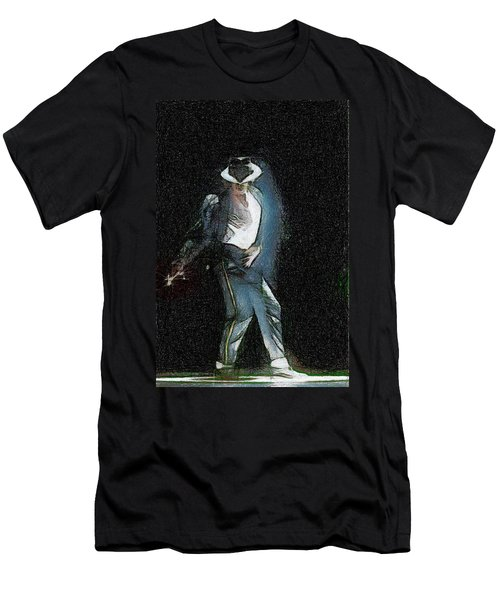 Men's T-Shirt (Slim Fit) featuring the painting Michael Jackson by Georgi Dimitrov