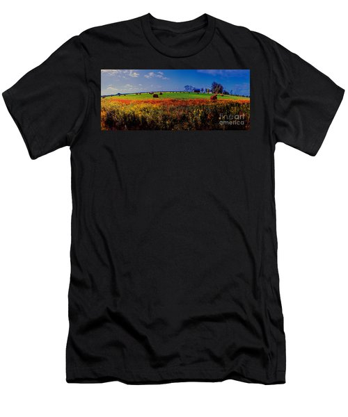 Michigan Uper  Farm Barn And Rolls Of Hay Brimly Michigan Men's T-Shirt (Athletic Fit)