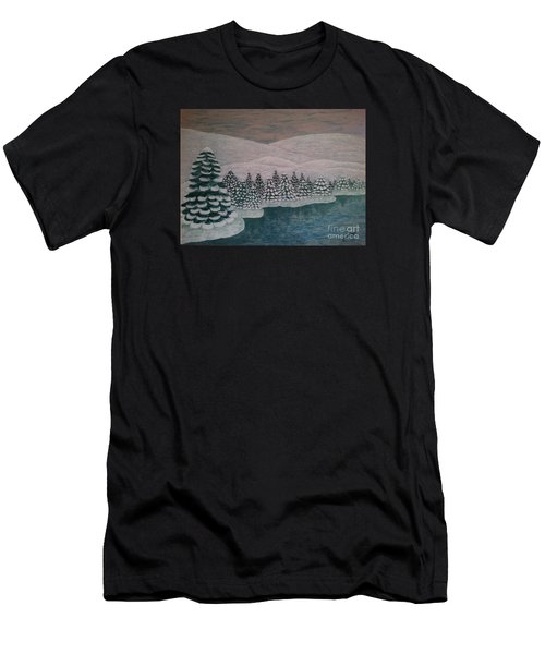 Michigan Winter Men's T-Shirt (Athletic Fit)