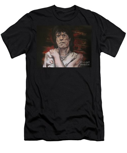 Mick Jagger - Street Fighting Man Men's T-Shirt (Athletic Fit)