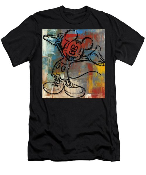 Mickey Mouse Sketchy Hello Men's T-Shirt (Athletic Fit)