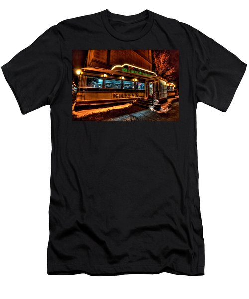 Mickey's Diner St Paul Men's T-Shirt (Slim Fit) by Amanda Stadther