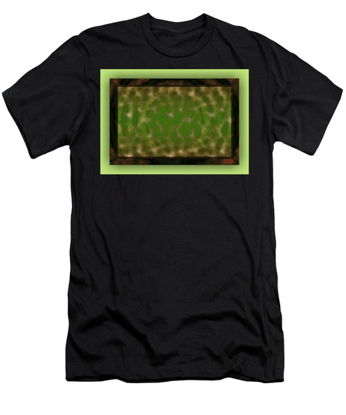 Men's T-Shirt (Athletic Fit) featuring the digital art Microscopic Scale - Green by Mihaela Stancu