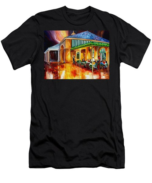 Midnight At The Cafe Du Monde Men's T-Shirt (Athletic Fit)