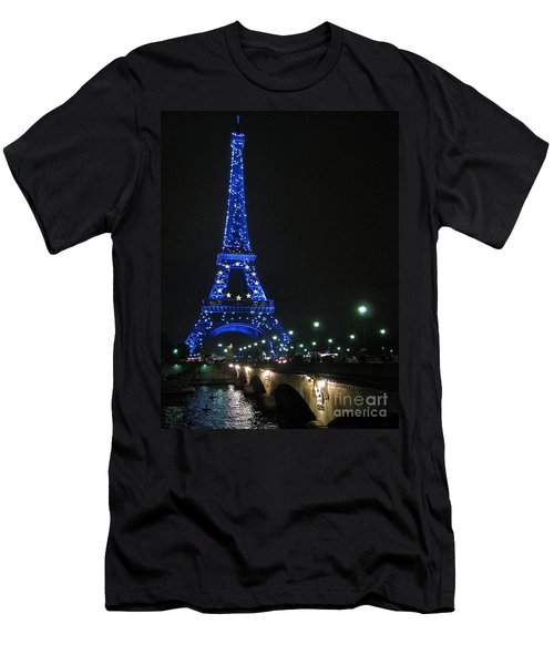 Men's T-Shirt (Slim Fit) featuring the photograph Midnight Blue by Suzanne Oesterling