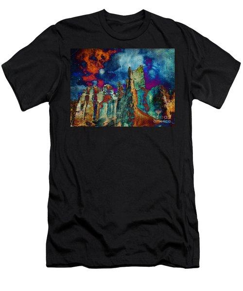 Midnight Fires Men's T-Shirt (Slim Fit) by Meghan at FireBonnet Art