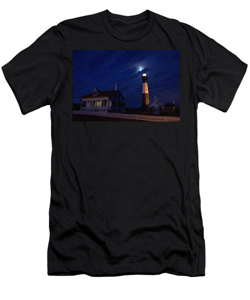 Midnight Moon Over Tybee Island Men's T-Shirt (Athletic Fit)