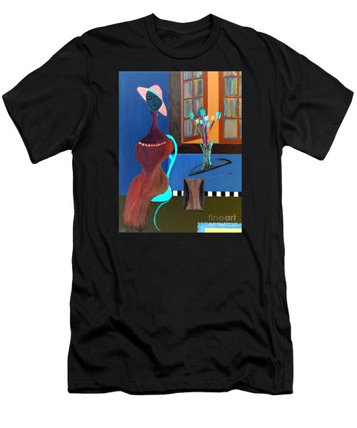 Midnight On The Terrace Men's T-Shirt (Athletic Fit)