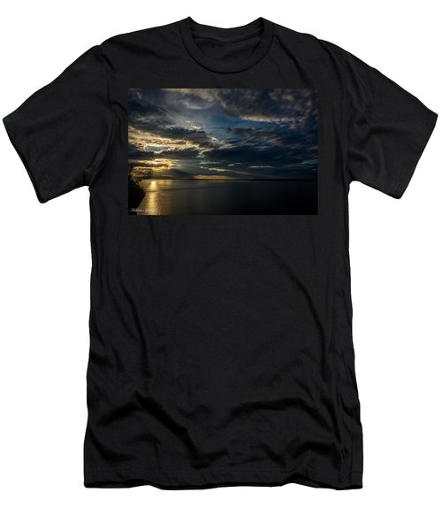 Midnight Sun Over Cook Inlet Men's T-Shirt (Athletic Fit)