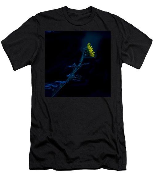 Midnight Sunflower Men's T-Shirt (Athletic Fit)