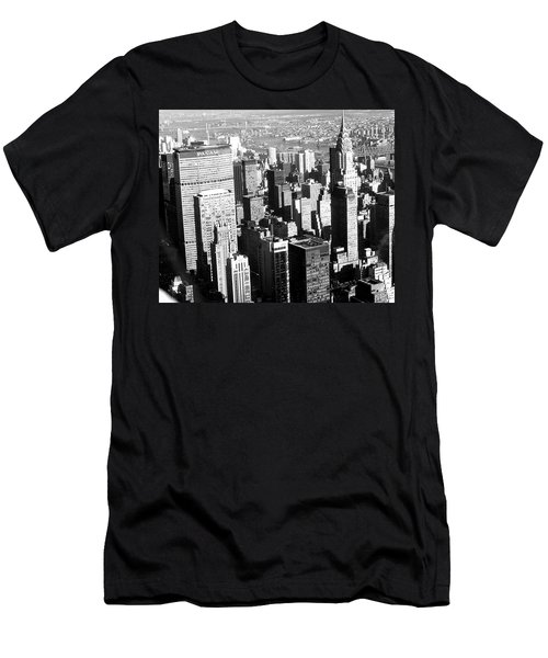 Midtown Manhattan 1972 Men's T-Shirt (Slim Fit) by Steve Archbold