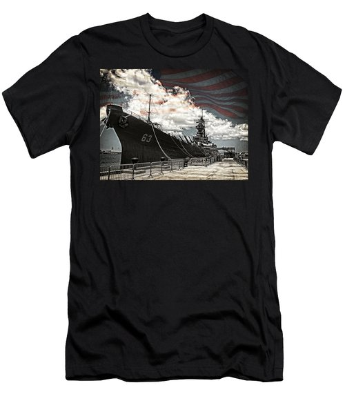 Mighty Mo U.s.s. Missouri Men's T-Shirt (Slim Fit) by Ken Smith
