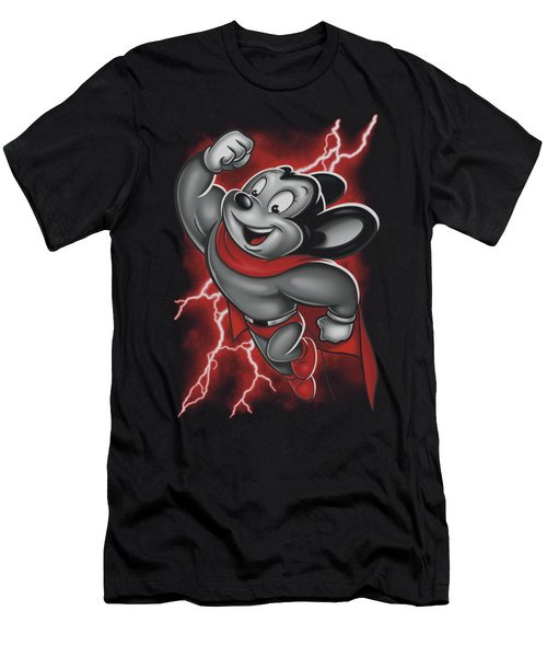 Mighty Mouse - Mighty Storm Men's T-Shirt (Athletic Fit)