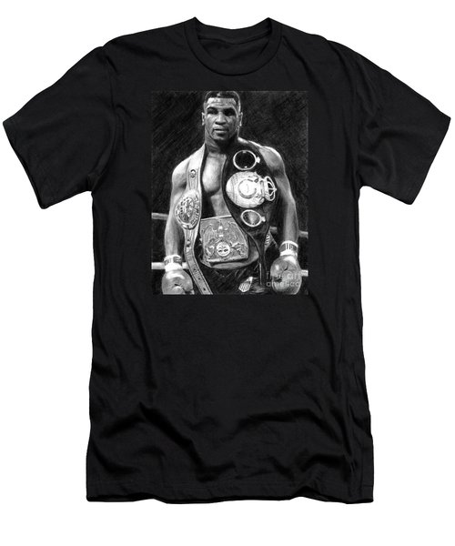Mike Tyson Pencil Drawing Men's T-Shirt (Athletic Fit)
