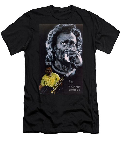 Miles Davis Jazz King Men's T-Shirt (Athletic Fit)
