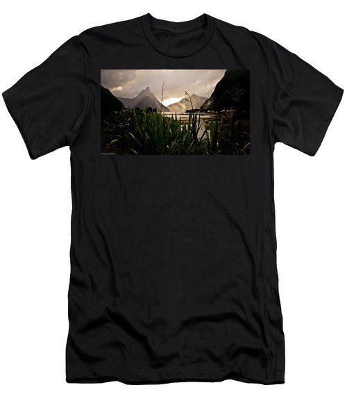 Men's T-Shirt (Athletic Fit) featuring the photograph Milford Sound by Chris Cousins