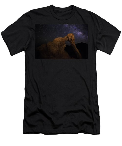 Milky Way Over The Elephant 2 Men's T-Shirt (Athletic Fit)