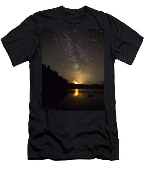 Milky Way At Crafnant 2 Men's T-Shirt (Athletic Fit)