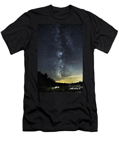 Milky Way Over Beaver Pond In Phippsburg Maine 2 Men's T-Shirt (Athletic Fit)