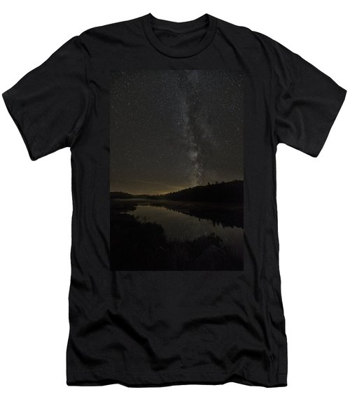 Milky Way Over Costello Creek Men's T-Shirt (Athletic Fit)