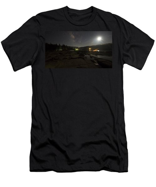 Milky-way Over Plasse's Resort - Silver Lake Men's T-Shirt (Athletic Fit)