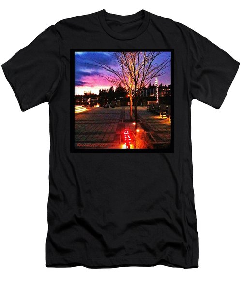 Millennium Park Plaza At Sunset Men's T-Shirt (Athletic Fit)