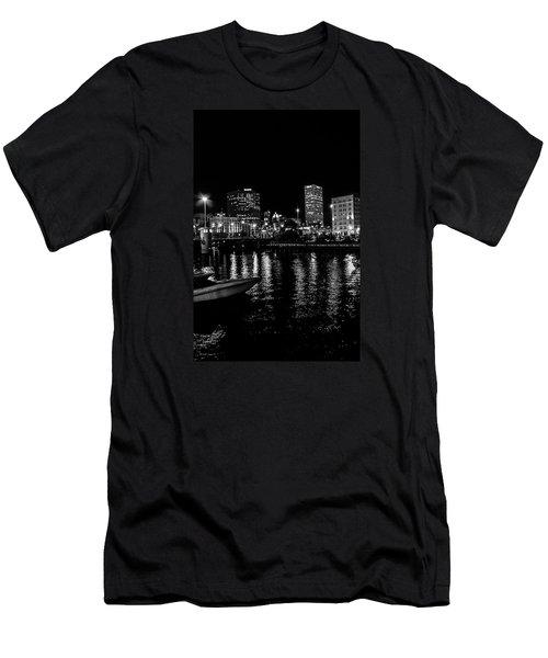 Milwaukee Downtown Third Ward Men's T-Shirt (Slim Fit) by Susan  McMenamin